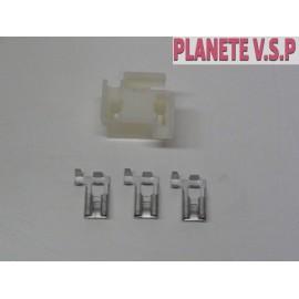 Connecteur pour douilles H4 cosses à 90°